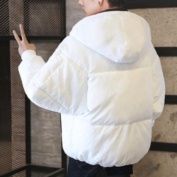 Men's Oversized Hooded Puffer Jacket