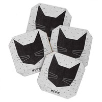 Wesley Bird Meow Coaster Set