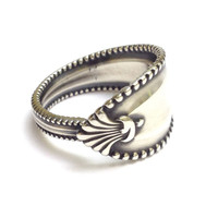 Antique Sterling Silver Spoon Ring - Circa 1902