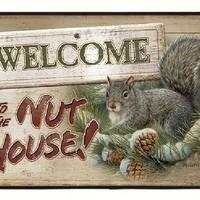 Welcome To The Nut House Squirrel Doormat