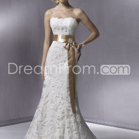 US $212.59 Free Shipping Amazing Trumpet/Mermaid Floor-length Court Strapless Lace Wedding Dresses
