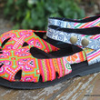 Dahlia Ethnic Hmong PInk Embroidered Mary Jane Womens Shoe