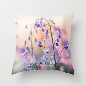 Bluebell Throw Pillow by Kristopher Winter