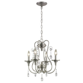 Shop Portfolio Opula 4-Light Brushed Nickel Chandelier at Lowes.com