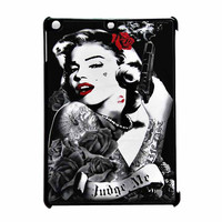 Marilyn Monroe Tattooed Flower With Pistol Gun iPad Air Case