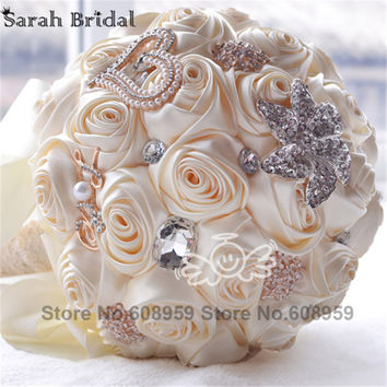 Artificial Wedding Flower Bridal Bouquets Elegant Wedding Decoration Bridesmaid Bouquets Bouquet De Mariage Casamento WF036