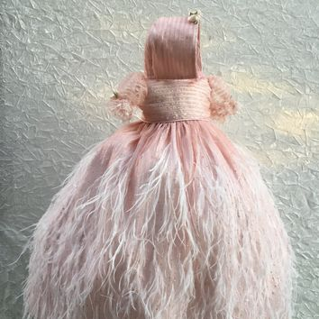 Paris-christening gown-feather dress-bautismo-baby