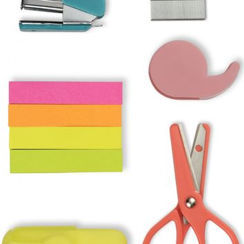 Mini Tool Kit (Includes Scissors, Highlighter, Sticky Tape, Stapler, Staples & Sticky Notes)