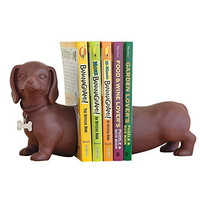 Dachshund Bookends-Prop Up Books on Any Shelf, Desk or Table - Unique Home Dcor Gift for Dog Enthusiasts