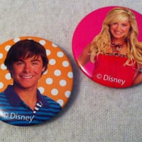 High School Musical Pins - Troy and Sharpay Set