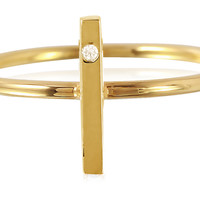 Stick Ring w/ Diamond, 14K Yellow Gold, Stone & Novelty Rings