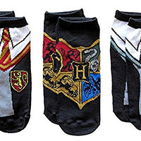 Harry Potter Uniforms Crest Juniors/Womens Low Cut Ankle 3 Pack Socks