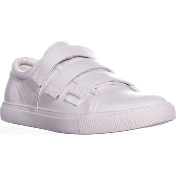 Kenneth Cole Kingvel Triple Strap Sneakers, White, 8 US / 39 EU