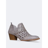Cutout Ankle Bootie