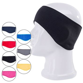 Unisex Women Men Headwear Ear Warm Winter Head Band Polar Fleece Ear Muff Stretch Spandex Hair Band Accessories