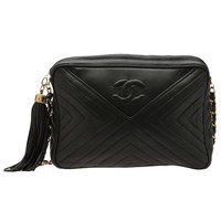 CHANEL VINTAGE chevron camera bag