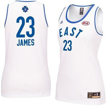 Women's NBA Eastern Conference LeBron James adidas White 2016 All-Star Game Replica Je