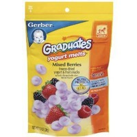 Gerber Graduates Yogurt Melts, Mixed Berry, 1-Ounce
