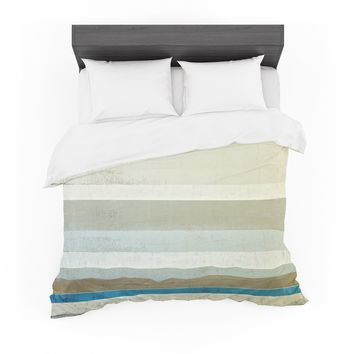 "CarolLynn Tice ""Invent"" Neutral Brown Featherweight Duvet Cover"