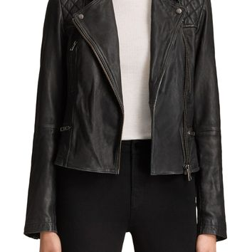 ALLSAINTS Cargo Leather Biker Jacket | Nordstrom