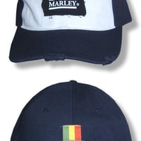 Bob Marley Patch Cap (Navy Blue & White)