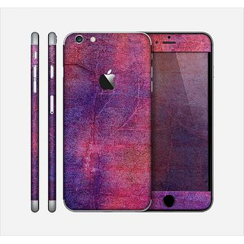 The Pink & Blue Grungy Surface Texture Skin for the Apple iPhone 6 Plus