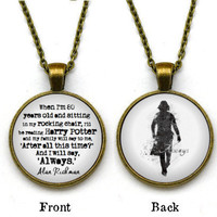Double-Sided Severus Snape Necklace, 'When I'm 80 years old, I'll be reading Harry Potter', Alan Rickman, Always Necklace
