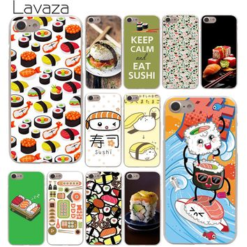 Lavaza Japanese cuisine Sushi food Hard Phone Cover Case for Apple iPhone 10 X 8 7 6 6s Plus 5 5S SE 5C 4 4S Coque Shell