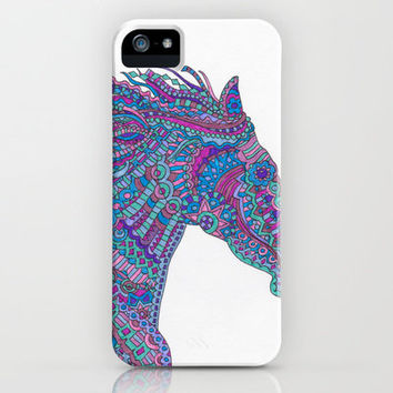 Technicolor Horse iPhone & iPod Case by Flammejumelle