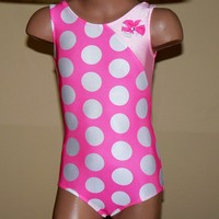 Gorgeous Polka Dots Gymnastic Dance Leotard Size 2T by SENDesigne