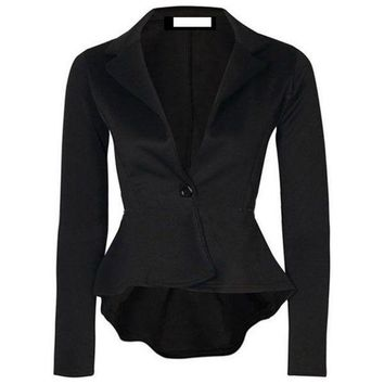 DCCKFV3 New Fashion Women One Button Slim Casual Business Blazer Suit Jacket Coat Outwear Comfortable Coat
