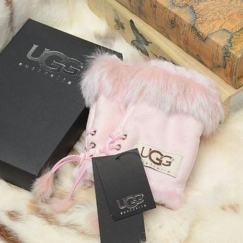 UGG Women Fashion Wool Winter Knitted Gloves