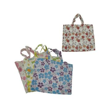Large Flower Tote Bag 4 Assorted Designs (pack of 24)