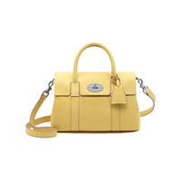 Small Bayswater Satchel in Camomile Small Classic Grain | Women's Bags | Mulberry