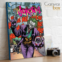 DC Batman The Joker Retro Comic Book Cover Box Framed Canvas Art Print