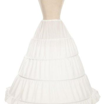 4 Ring White Petticoat Underskirt Hoop For Cinderella Gown - P1561B