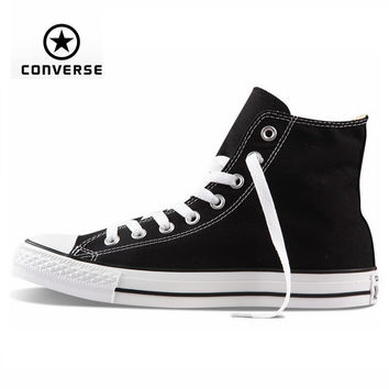 Original Converse all star shoes high men women's sneakers canvas shoes for men black high classic Skateboarding Shoes