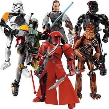 Star Wars Force Episode 1 2 3 4 5 sermoido  Rogue One Toys Jango Phasma Jyn Erso K-2SO Darth Vader General Grievous Figure toy building blocks Toys AT_72_6