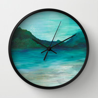 A Peace of My Soul Wall Clock by Sophia Buddenhagen