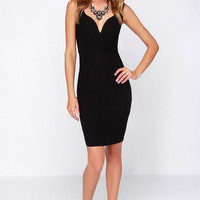 LULUS Exclusive Pin Up to No Good Black Midi Dress