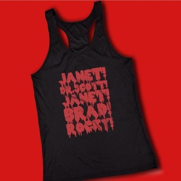 Rocky Horror Picture Show Janet Brad Dr Scott Frank N Furter Horror Musical Movie Women'S Tank Top