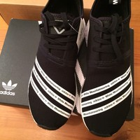 Adidas NMD_R2 PK Primeknit White Mountaineering WM BB2978 Black Size10 RARE Find