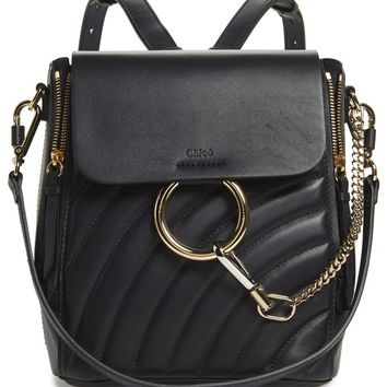Chloé Small Faye Quilted Leather Backpack | Nordstrom