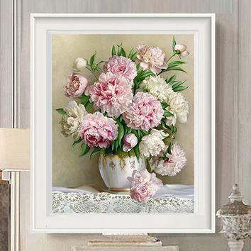 diy 5d diamond painting Cross stitch flowers Diamond Mosaic Pictures Living Room diamond embroidery Hand Made Diamond Paintings
