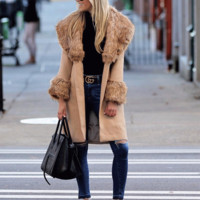 Cappuccino Fur Coat