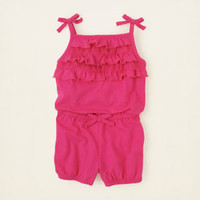 baby girl - dresses & rompers - knit ruffle romper | Children's Clothing | Kids Clothes | The Children's Place