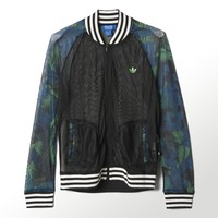 adidas Hawaii Superstar Mesh Track Jacket - Black | adidas US