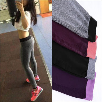 2016 Women Activity Pants Bodybuilding Clothing Sexy Wear Tights Pants For Women Workout High Waist Pants