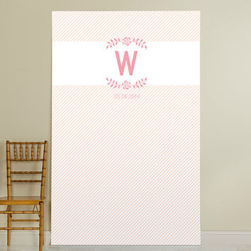 Personalized Photo Booth Backdrop - Kate's Rustic Bridal Collection - Rustic Flower