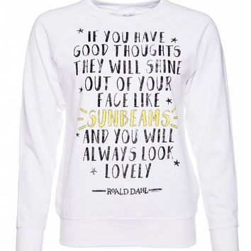 Women's Roald Dahl Good Thoughts Quote Sweater